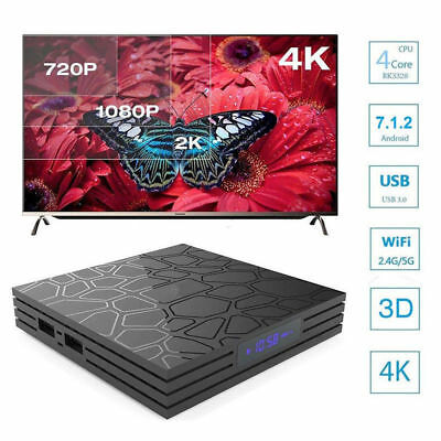 Smart TV BOX T9 PRO Android 7.1.2 4GB RAM 32GB 4K IPTV GPU 5 CORE QUAD WIFI