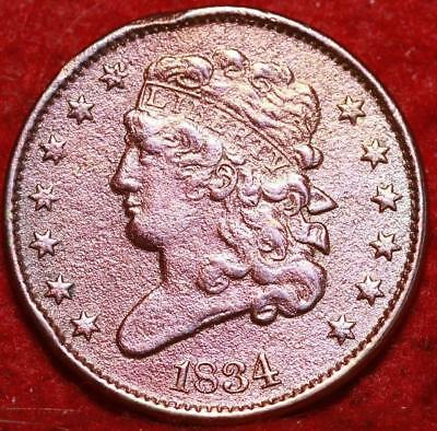 1834 Philadelphia Mint Copper Classic Head Half Cent 13 stars