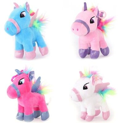 "Chic Christmas Bag Filler 5.9"" Plush Unicorn Horse Stuffed Toys Kids Girls Gifts"