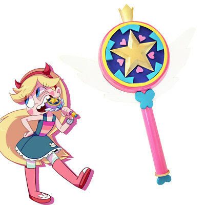 Star vs. the Forces of Evil Star Butterfly Princess Stick Wand Cosplay Prop Acc