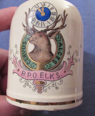 Antique Vintage B.p.o. Elks Mug Made In Germany Fraternal Mug