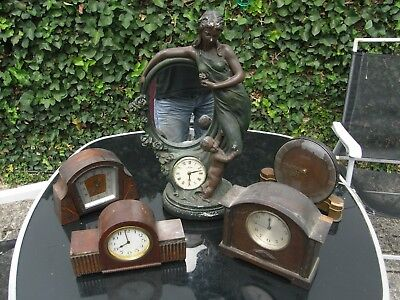 Collection of Five Antique Clocks
