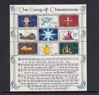 "CHRISTMAS Island 1978 Christmas MINISHEET ""The Song Of Christmas ""  SONG MNH -"