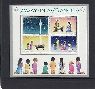 "CHRISTMAS Island 1981 Christmas MINISHEET ""AWAY IN A MANGER  ""  SONG MNH -"