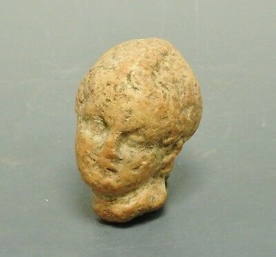 Greek Terracotta Male Head (356F)