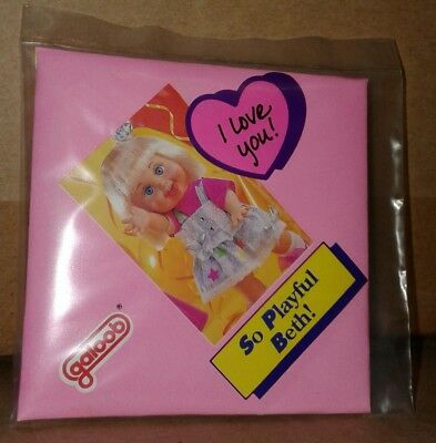 Rare Galoob Baby Face So Playful Beth Heart Charm Mip