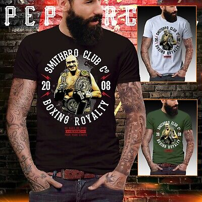 5c9460e832f Tyson Fury Boxing t shirt gym training mens top fit athletic bodybuilder