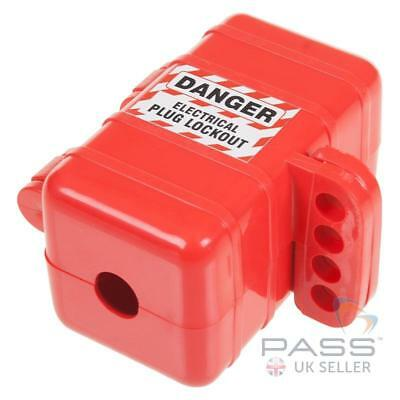 LOTO Small Electrical Plug Lockout Box - Single Small Plug