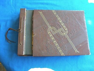 1943 Young Woman's Photo Album School Camp Sailors Soldiers