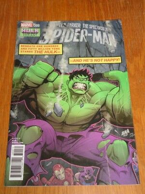 Peter Parker Spectacular Spiderman #300 Marvel Comics Hulk Variant April 2018
