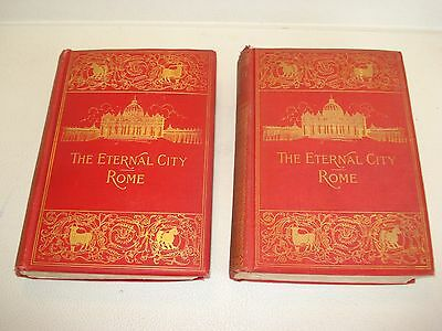 1896 THE ETERNAL CITY ROME by Clara Erskine Clement Italy History ART Map Travel