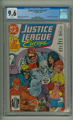 Justice League Europe #1 (CGC 9.6) White pgs; Justice League #1-c/swipe (c#20018