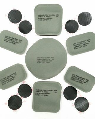 NEW US ARMY ISSUE HELMET PADS SET (7 PADS) FOR THE ACH/MICH HELMET w/ Hook Coin