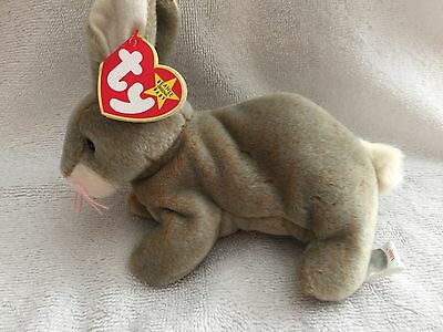 "Ty Beanie Baby  ""nibbly"" May 7, 1998  - With Hang & Tush Tag Errors - Mwmt"