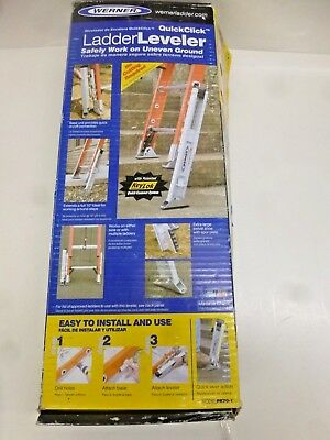 New!! Werner Extension Ladder Leveler, Aluminum, Pk70-1