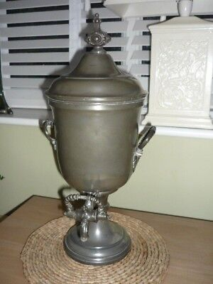 Antique Shaw & Fisher Pewter Loysels Patent Percolator