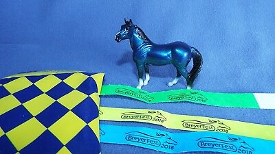 BIG LEX – Stablemate Gloss Blue – BreyerFest 2018 Special –Save on Comb USA SHIP
