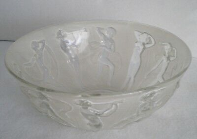 DECO Consolidated PHOENIX Art Glass Bowl Dancing Nudes Female Figures
