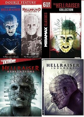 HELLRAISER Complete Movie Series 1-10 DVD Set with Judgment BRAND NEW Free Ship