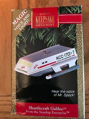 1992 Hallmark Keepsake Ornament Shuttlecraft Galileo