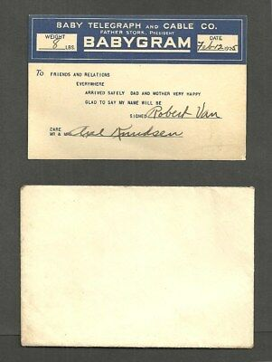 #623  Babygram - Baby Telegraph And Cable Co., Father Stork, President - 1925