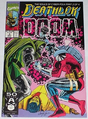 Deathlok #3 from Sept 1991 VF+ to NM Dr. Doom