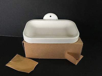 NEW OLD STOCK 1940 White Enameled Wall Mount Soap Dish