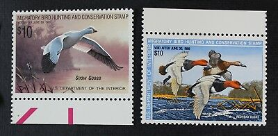 CKStamps: US Federal Duck Stamps Collection Scott#RW54 RW55 $10 Mint NH OG