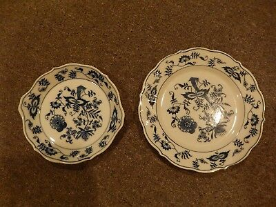 Antique Blue Danube Plate & Another Piece I'm Not Sure What To Call
