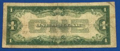 "1928A $1 Blue ""FUNNY BACK"" SILVER Certificate X731 Rough! Old US Currency"