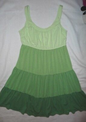 Motherhood Maternity Sleepwear Green tiered nursing sleep dress night gown M