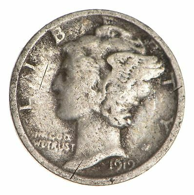 ALMOST 100 Years OLD 1919 Mercury Liberty 90% Silver United States Dime *355