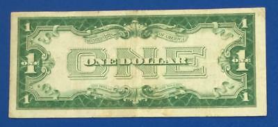 "1928 $1 Blue ""FUNNY BACK"" SILVER Certificate VG/FINE X420 Old US Currency"