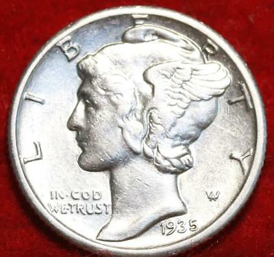 Uncirculated 1935-S San Francisco Mint Silver Mercury Dime
