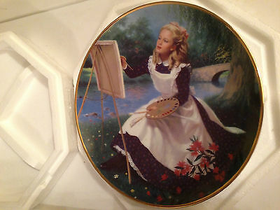 AMY by Elaine Gignilliat LITTLE WOMEN Louisa Alcott Danbury Mint 23kt Gold Rim