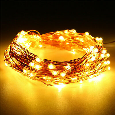 10M 100 LED USB 5V Fairy String Copper Wire Fairy Light Party Decor Waterproof