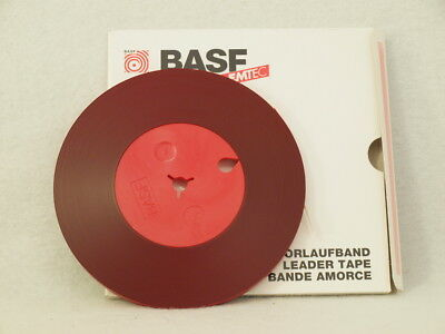 """Vorlaufband Rot BASF 250m 6,3mm 1/4"""" 1/4in * NOS * Tonband Tape"""