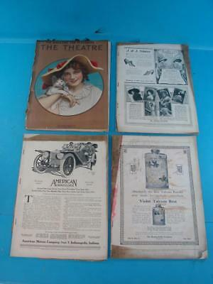 4 Theatre Actors & Plays Playgoers Magazine 1912-1913 Mary Pickford Silent Film