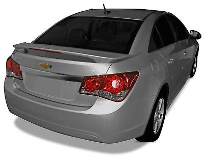 UNPAINTED Spoiler Wing With LED Brake Light For: CHEVY CRUZE 2010-2015
