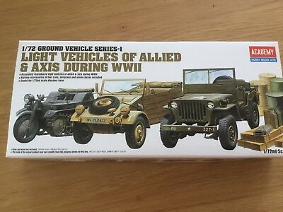 Academy Ground Vehicles Wwii Jeep Kübelwagen Italeri Krad 1/72