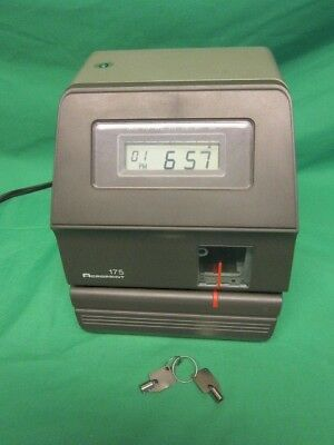 Arcoprint 175 Time Clock / Timeclock, w/ 2 Keys, Works Perfectly, Very Clean