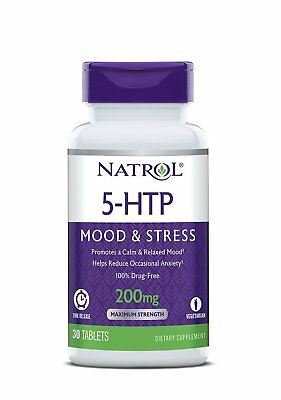 Natrol 5-HTP Time Release Tablets 200mg 30 Count