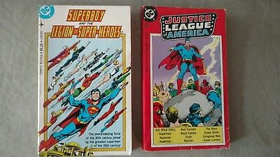 Lot of 2 Tempo Books Justice League & Superboy  Legion Super Heroes DC Comics