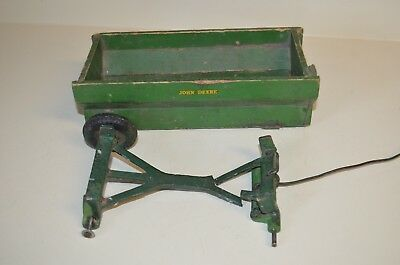 Arcade Cast Iron Frame John Deere Wood Wagon For Parts Or Restore 1940's
