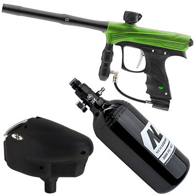 Proto Rize lime Paintball Markierer Sparpaket inkl. Halo Too Hopper & HP System