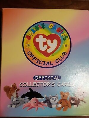 ty Beanie Babies Official Club Binder Cards Foil Retired Puzzle