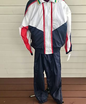 Lavon Vintage Women's TrackSuit 1980's Jacket & Pants Red White Blue Green NWT
