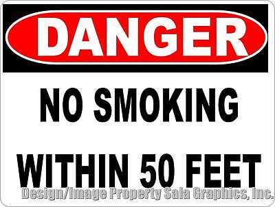 Danger No Smoking within 50 Feet Sign. Size Options. Fire & Explosion Safety