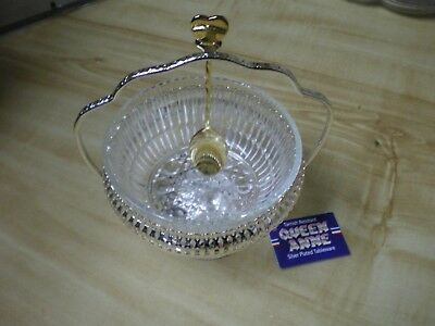 Queen Anne Silver Plated Tableware (Serving Bowl With Spoon) Made In England