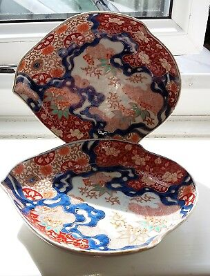 Pair of Japanese C.19th Imari shaped Saucer Dishes.